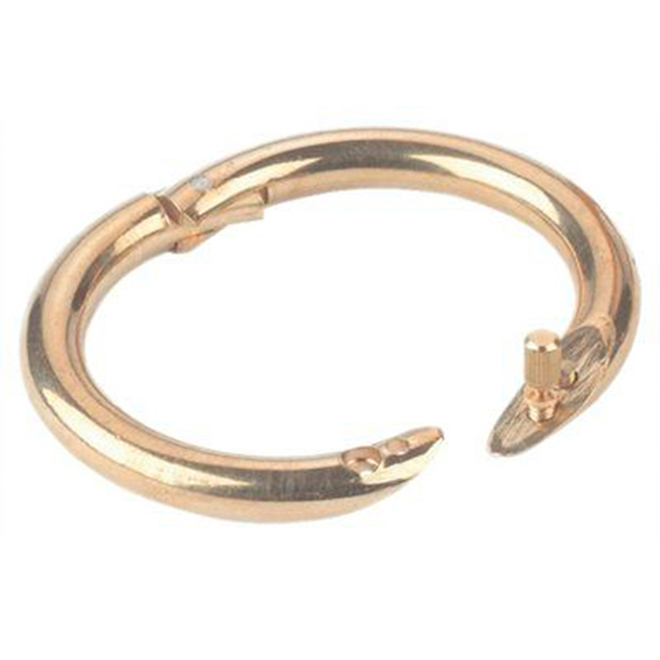 "Bull Ring - Brass - Large - 3/8"" x 3 1/2"""