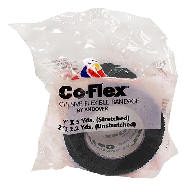"Horse Bandage - Co-Flex Wrap - Black - 2"" x 180"""
