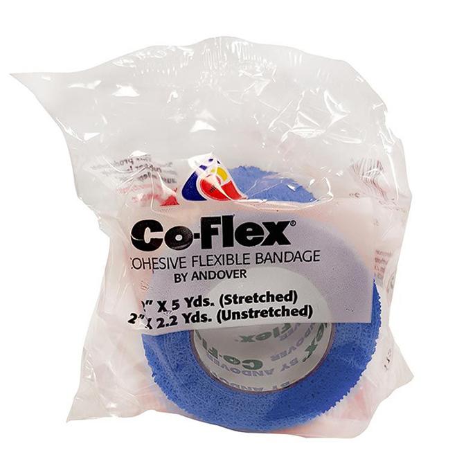 "Horse Bandage - Co-Flex Wrap - Blue - 2"" x 180"""