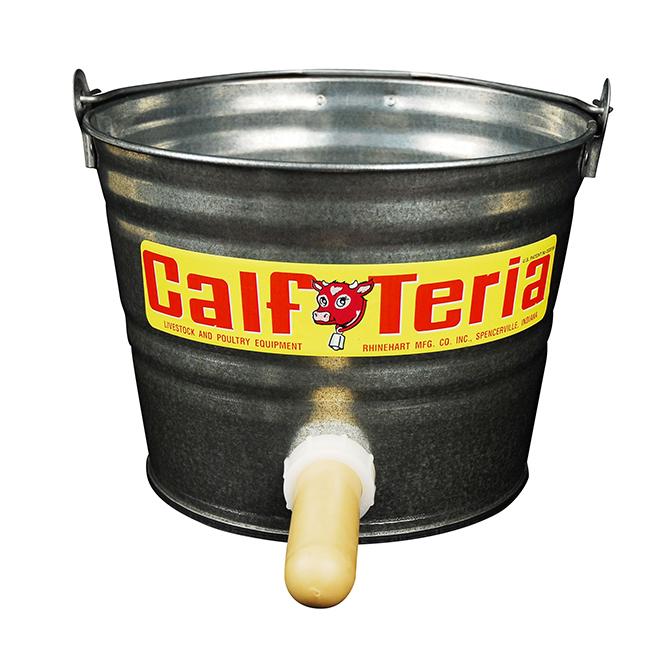 Calf Feeding Pail with Nipple - CalfTeria - 8 Qt