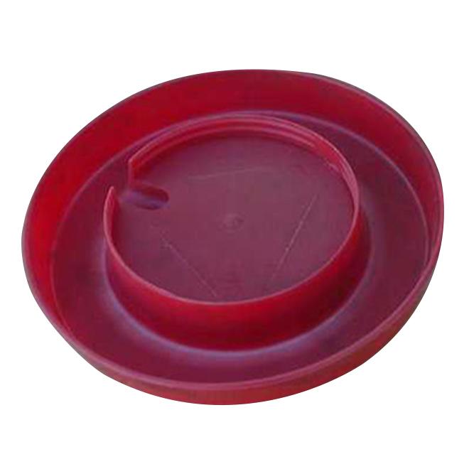 Base pour fontaine à volaille, plastique, rouge