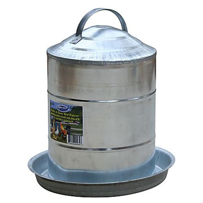Poultry Fountain - Galvanized Steel - 3 Gallon