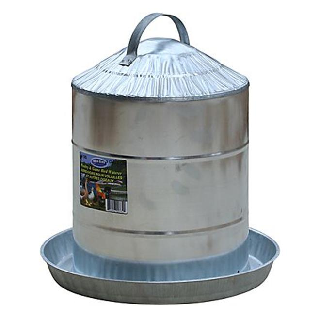 Abreuvoir pour volaille, acier galvanisé, 5 gallons