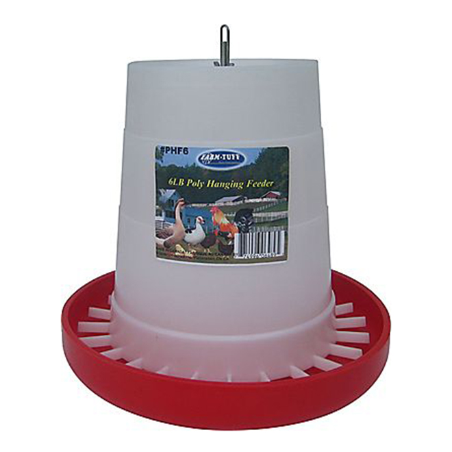 Hanging Automatic Poultry Feeder - 6 lb Capacity