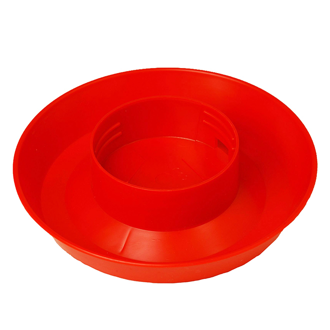 Screw-On Poultry Waterer Base - Red - 1 Qt