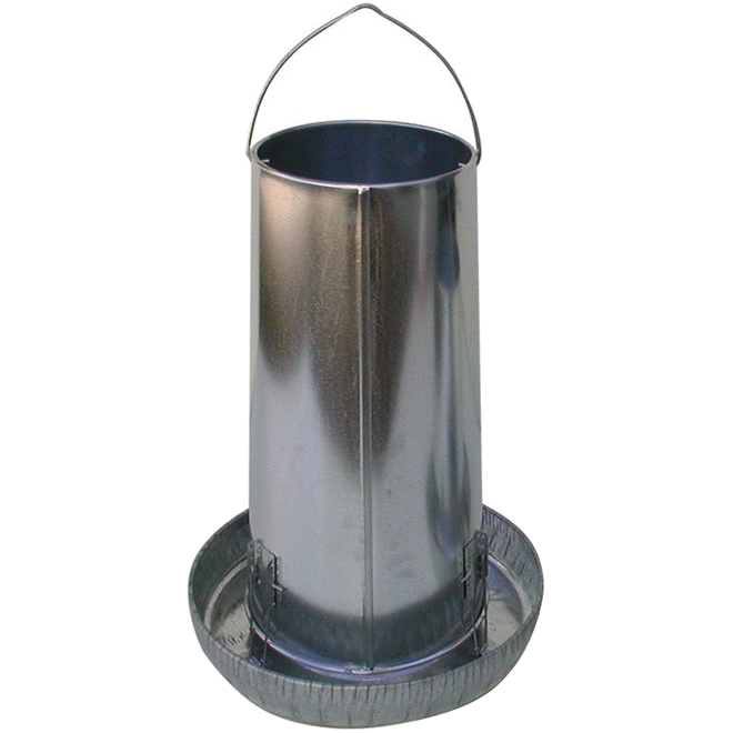 Poultry Feeder - Galvanized Steel - 25 lb