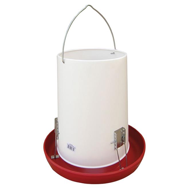 Mangeoire suspendue et automatique pour volaille, cap. 25 lb
