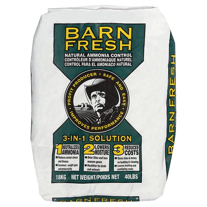 Désodorisant pour litière, terre de diat., Barn Fresh, 18 kg