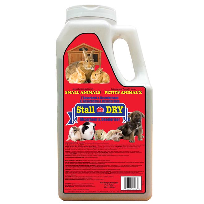 Désodorisant pour litière, terre de diat. Stall Dry, 2,72 kg