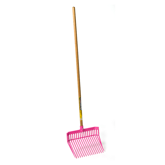 "Stall Fork - DuraFork - 13 1/8"" x 15 1/8"" x 52"" - Hot Pink"