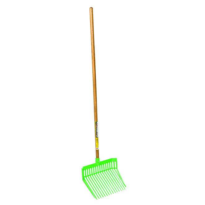 "Stall Fork - DuraFork - 13 1/8"" x 15 1/8"" x 52"" - Lime Green"