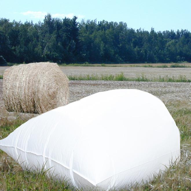 "Bale Bags - 60"" Capacity - White - 110"" x 132"" - 20 Box"