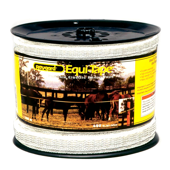 "Heavy-Duty Electric Fence Tape - Baygard HV - 7/8"" x 492'"