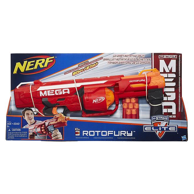 Nerf Blaster - N-Strike Mega RotoFury Blaster - Ages 8+