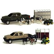 John Deere Pickup and Trailer Set - 8''