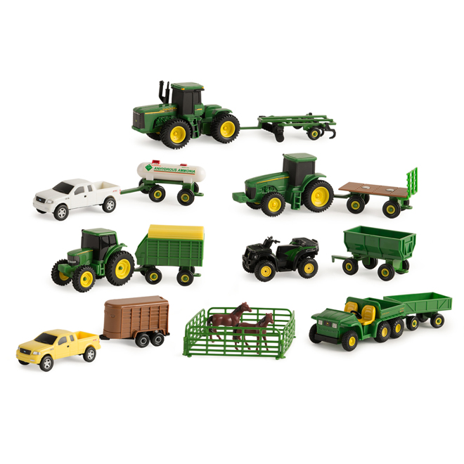 John Deere Vehicle Set - 20 Pieces - Ages 3+