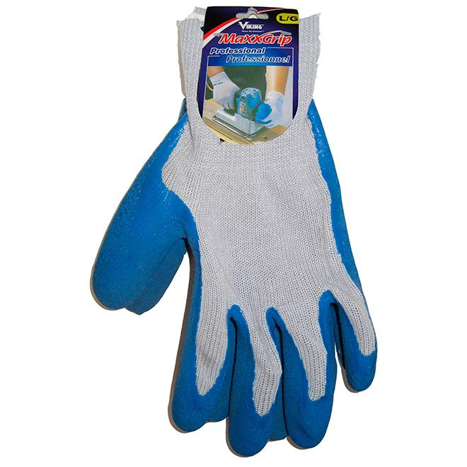 Mega-Grip Rubber Coated Working Glove - Blue - Large