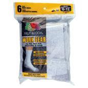 Men's Work Gear Crew Socks - 6 Pairs - Grey