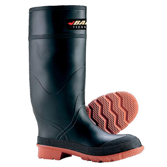 Men's Rubber Tractor Boot - 15'' - Black/Red