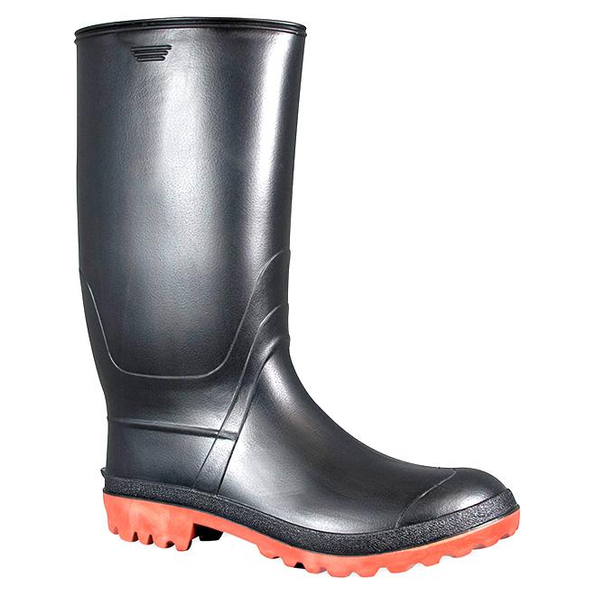 Men's Rubber Rainboots - Black - 8