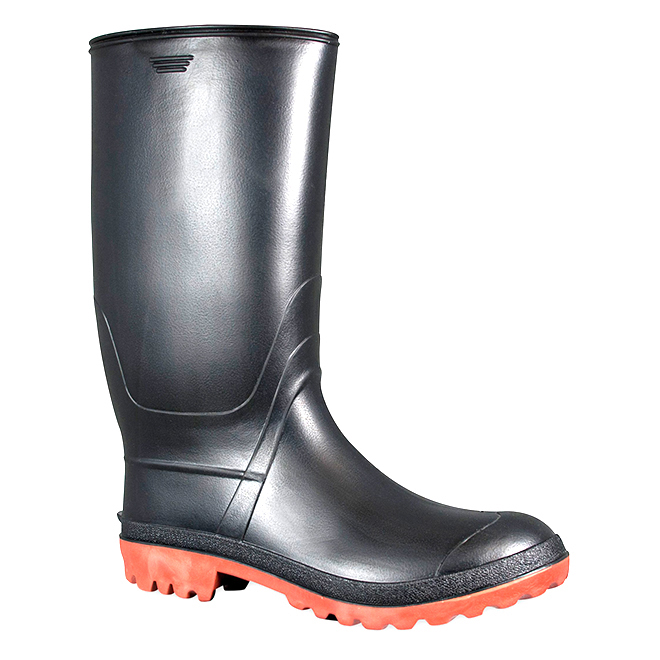 Men's Rubber Rainboots - Black - 11