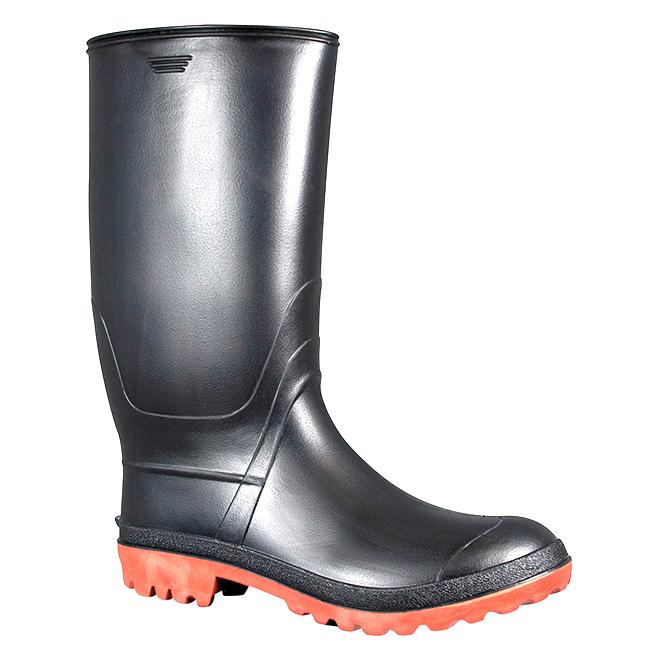 Men's Rubber Rainboots - Black - 13
