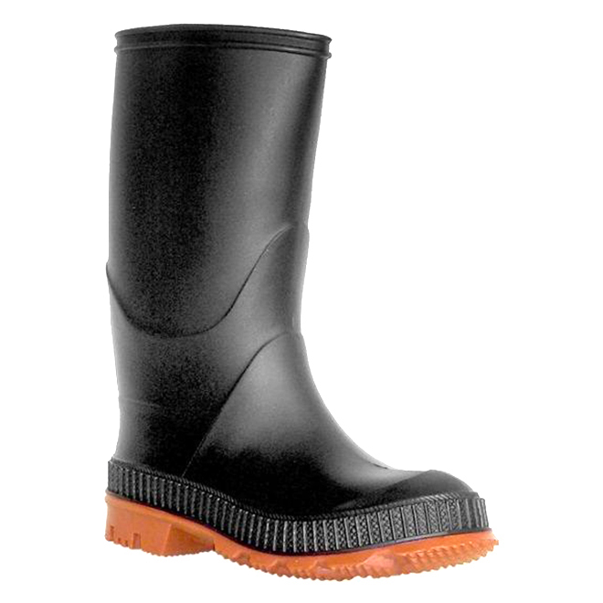 Boys Rubber Rainboots - Black - 1