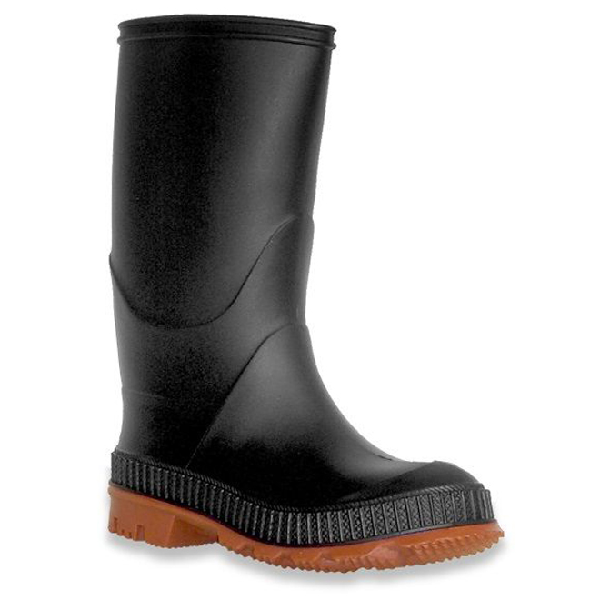 Boys Rubber Rainboots - Black - 6
