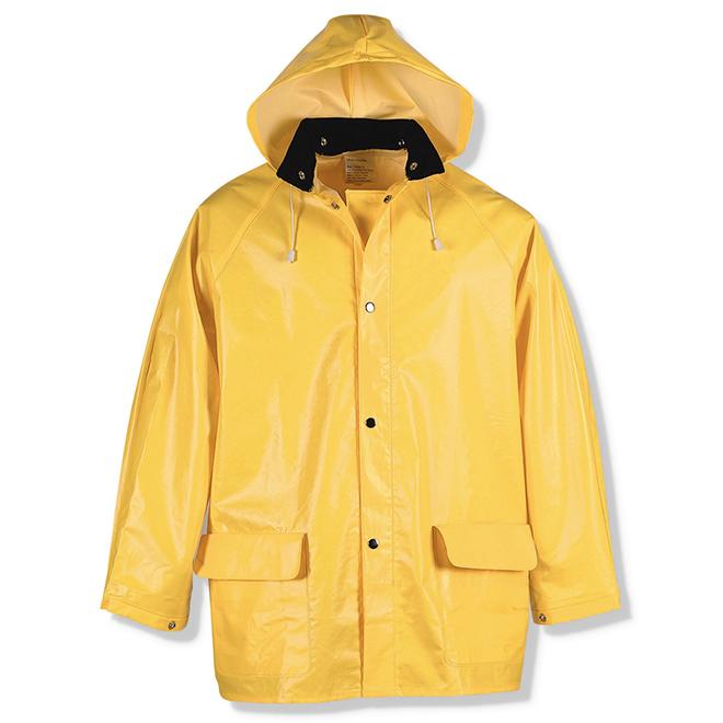 Habit de pluie ajustable pour homme, PCV/poly, jaune, TTG