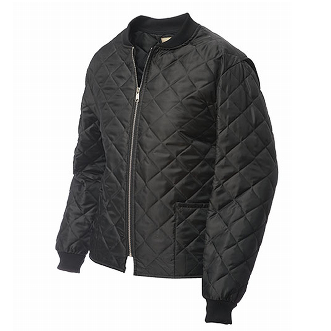 Men's Quilted Jacket - Polyester - Black - L