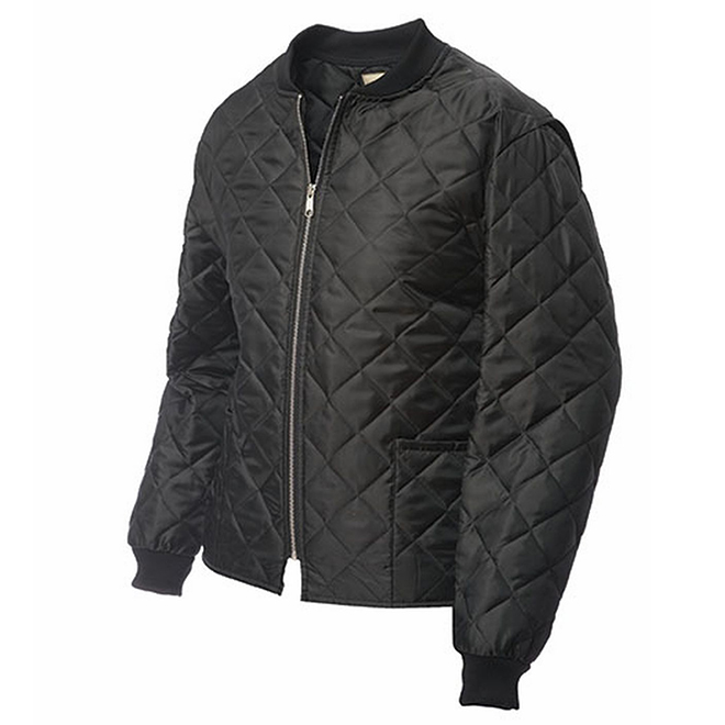 Men's Quilted Jacket - Polyester - Black - XL