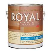 Peinture latex, plancher/patio satin, base moyenne, 956 ml