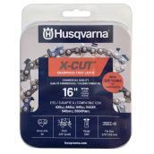 Chaîne pour scie mécanique X-Cut SP33G Husqvarna, pas de chaîne de 3/8 po, calibre de 0,05 po, longueur du guide 16 po