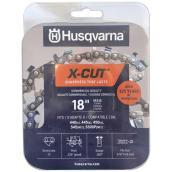 Chaîne de rechange X-Cut SP33G pour tronçonneuse Husqvarna, 18 po