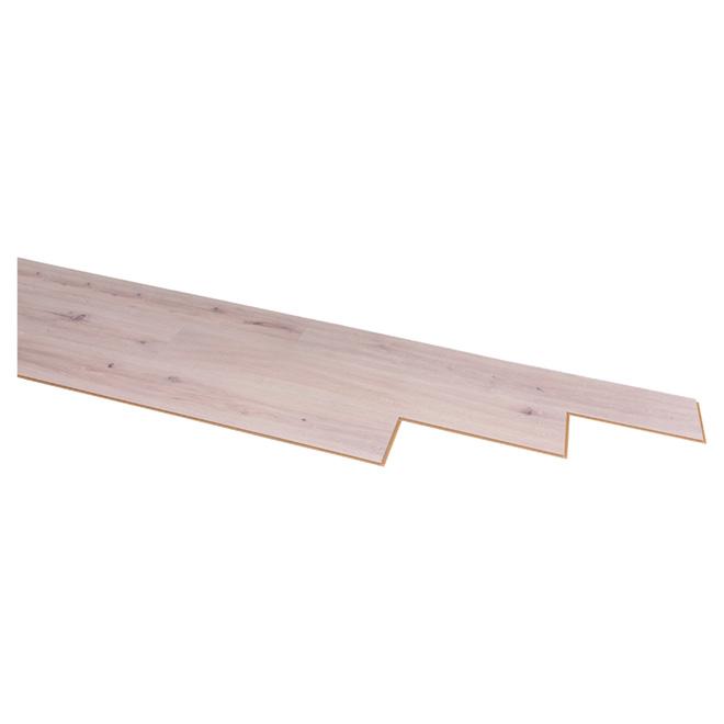 Plancher stratifié « Megaloc » 8mm, Gris Blanc