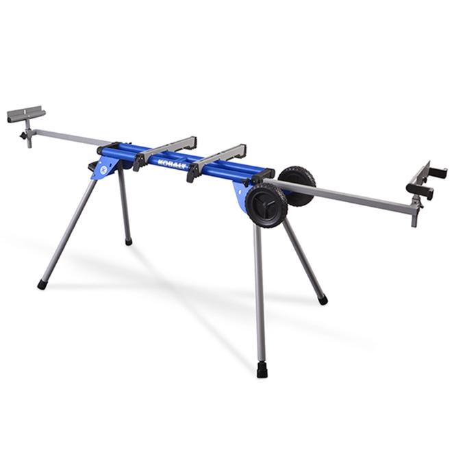 Kobalt steel adjustable rolling miter saw stand