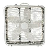 "Ventilateur carré, 20"", 3 vitesses, blanc"