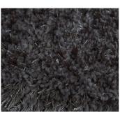 Tapis à longs poils, 4' x 6', polyester, gris