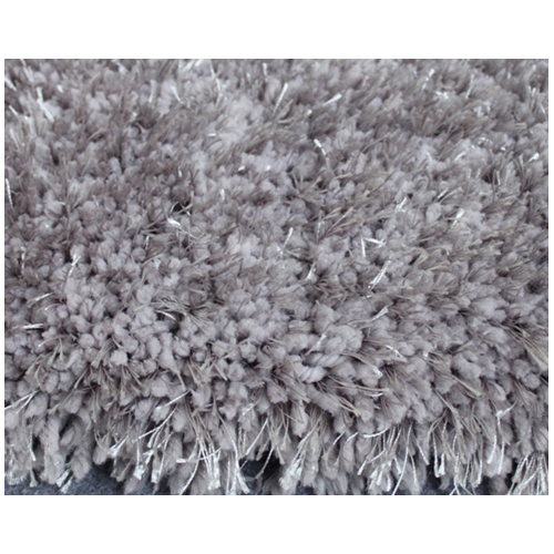 Shag Area Rug - 4' x 6' - Polyester - Silver