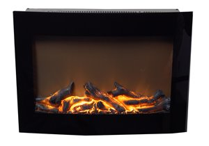Paramount Daniel Wall Mount 24-in Black Electric Fireplace