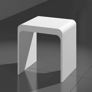 Kass Bath and Shower Stool - Matte White