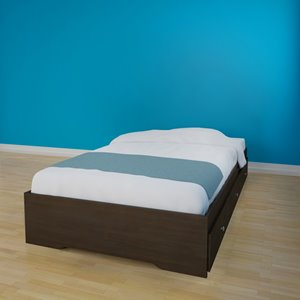 Nexera Pocono Twin Size Storage Bed - 3-Drawer - Espresso