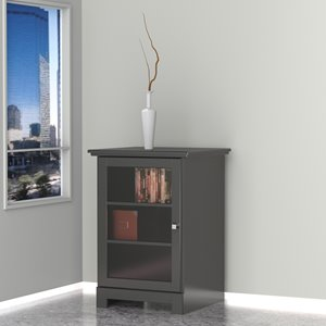 Cabinet audio Pinnacle, 1 porte, noir