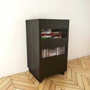 Cabinet audio Nuance, 1 porte, espresso