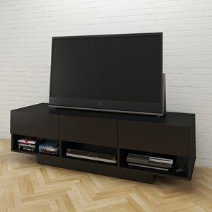 "Meuble audio-vidéo Stereo, 60"", noir"