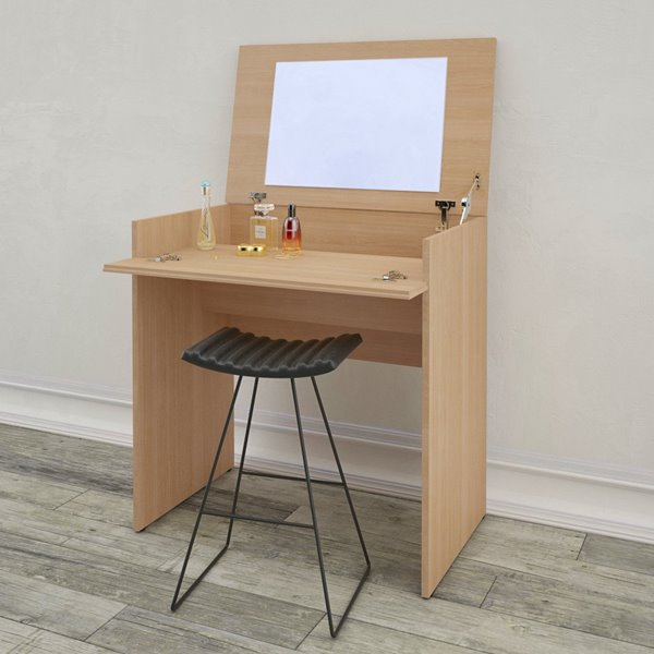 Nexera Dark Finish 30.75-in x 29.75-in Natural Maple Vanity and Writing Desk