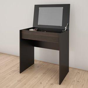 Nexera Vanity and Writing Desk - Black and Ebony