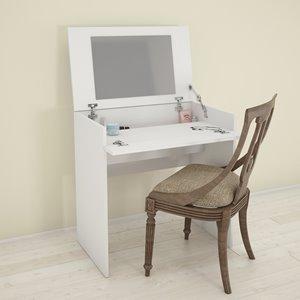 Maquilleuse et bureau Nexera, blanc