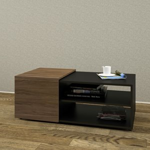 Nexera Next Coffee Table - Black and Walnut