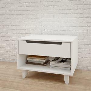 Table de nuit Nexera, 1 tiroir, blanc